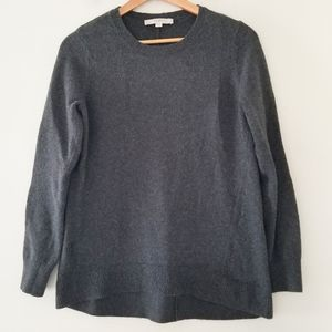 Loft charcoal gray oversized sweater